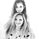Porträt in Schwarz-Weiß vom Foto